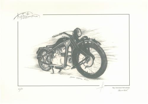 obraz Historická motorka BMW R2