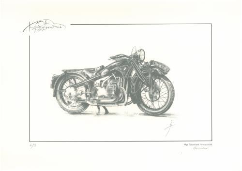obraz Veterán motocykl BMW