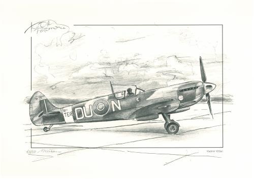 obraz Stíhací letoun Spitfire TE184 DU-N